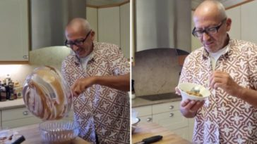 Manuel Luís Goucha ensina receita de mousse de chocolate sem açúcar