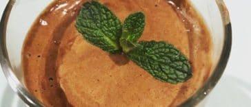 Receita de mousse de chocolate 100% vegetal