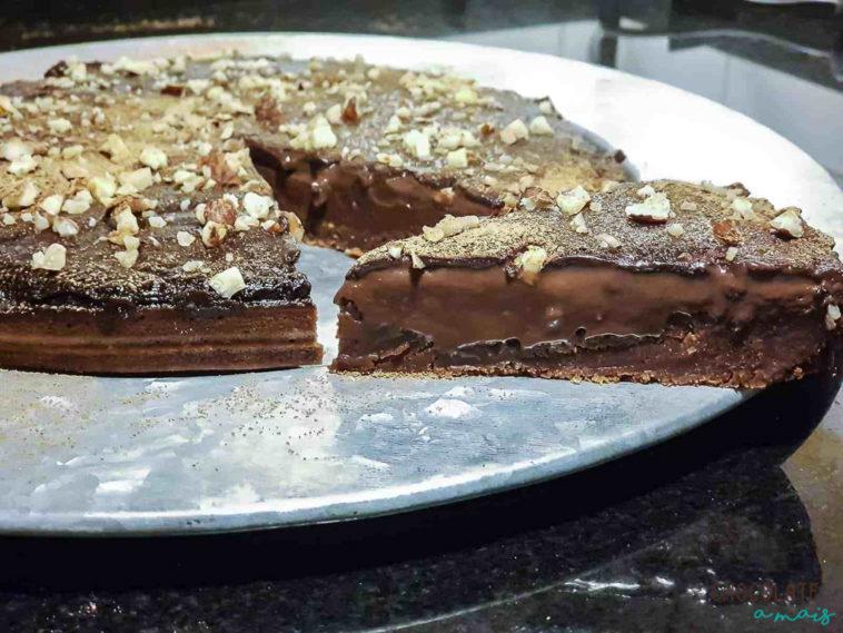 Receita tarte chocolate vegan