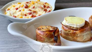 Receita de Lombinhos de Porco com Bacon e Queijo Chévre que é uma delícia