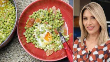 Clara de Sousa ensina receita ervilhas com chouriço e ovos escalfados