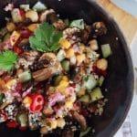 Receita de Quinoa Bowl, com molho de Manga picante