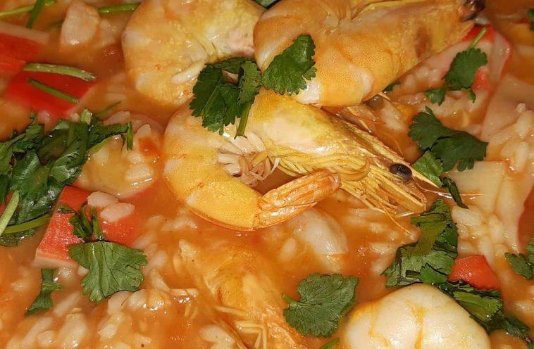 Receita do Arroz de Marisco mais prático e delicioso