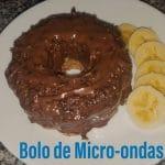 Receita do melhor Bolo de micro-ondas com aveia e banana