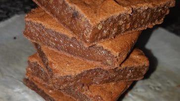 Receita de Brownie de batata doce biológica
