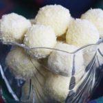 Receita dos Bombons de Chocolate Branco (Raffaellos Caseiros)