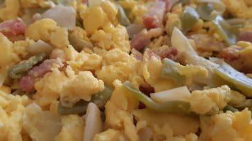Receita de Ovos Mexidos com Feijão-Verde