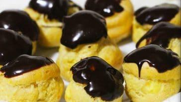 Receita dos Profiteroles com Chocolate