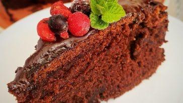 Receita do Bolo de Chocolate que leva muito amor