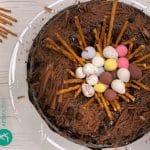 Receita do Bolo de Chocolate tipo Ninho de Páscoa