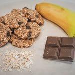 Receita das Cookies de Aveia e Banana rápidas e saudáveis