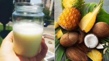 Receita da Gelatina de Ananás com Leite de Coco fresca e saudável