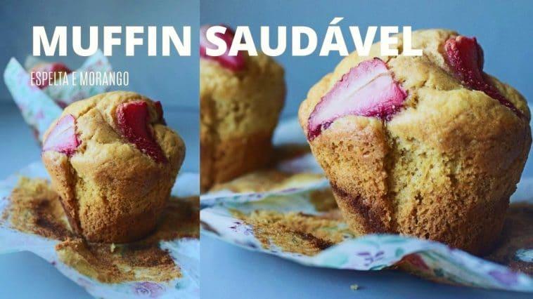 Receita de Muffin Saudável de Espelta e Morangos