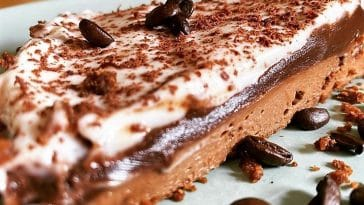 Receita da Tarte de Chocolate e Café sem açúcar