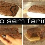 Receita do melhor Bolo de Chocolate saudável e sem farinha