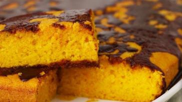 Receita do Bolo de Cenoura e Chocolate irresistível