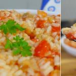 Receita do Arroz de Tomate típico da cozinha Portuguesa