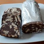Receita do Salame de Chocolate mais saudável